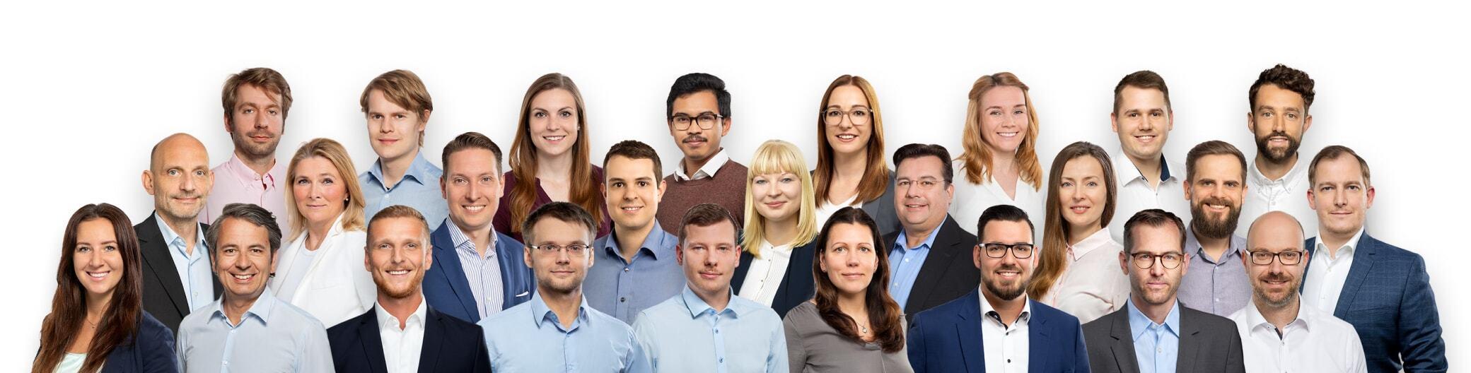 Zinsbaustein Team Collage